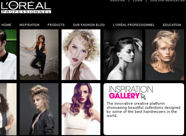 Visit L'Oreal's Inspiration Gallery