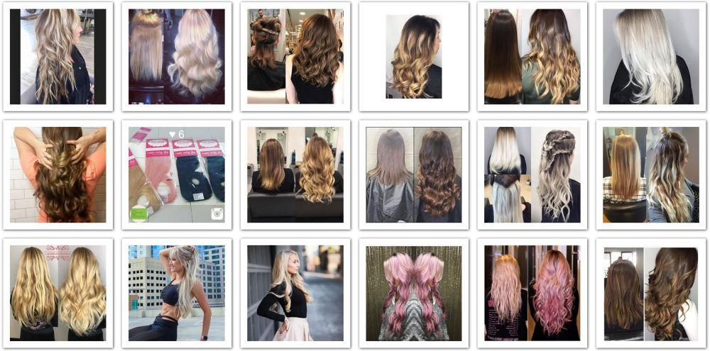 Glam Seamless UK Hair Extensions Instagram Gallery